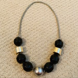 Jewelry - Black, gold, and silver beaded necklace